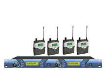 2 USB 2 Channels Wireless In ear Monitor System Stage performance 4 receivers