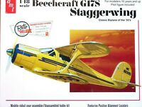 AMT Models 1:48 Beechcraft G17S Staggerwing Aircraft Model Kit