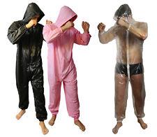 PVC Jumpsuit Strampler für Erwachsene Overall Schwitzanzug Spielanzug Onesie
