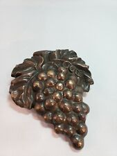Spi Solid Brass Grapes Cluster Leaves Heavy Door Knocker Bronze French County