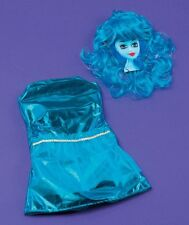 Girls MILA Midnight Madness Blue Costume Dress + Wig One Size Kids Age 3 4 5 6 7
