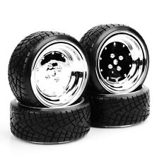 4PCS Tread Tires & Wheel For 1:10 HPI HSP Drift RC Car PP0290+PP0107