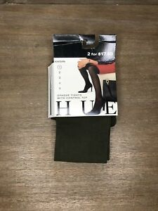 Women's HUE Opaque Control Top Tights Size 1 Leaf Green 40 Denier
