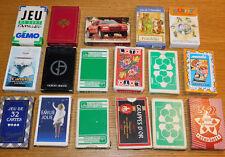 LOT JEU de CARTES à JOUER poker 7 FAMILLES belote PIQUET bridge PLAYING CARDS
