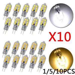 1/5/10Pcs G4 2835 SMD 12 LED Lamp Light Bulb DC 12V White& Warm Energy Saving