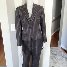 ralph lauren linen black stripes  blend  BLAZER sz 4, SUIT Jacket,pants, z7