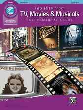 TOP HITS FROM TV,MOVIES & MUSICALS-INSTRUMENTAL SOLOS-TROMBONE-MUSIC BOOK/CD NEW