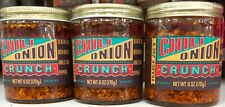 Trader Joe'S Chili Onion Crunch 3 Jars Each Net 6 Oz Olive Oil,Garlic,Peppers