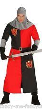 Hommes Foncé Âge Chevalier Médiéval Croisé Historique Costume Déguisement