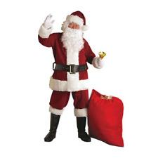 Santa Costume Crimson Regal Plush Suit with Faux Fur Trim Size XL 50-56
