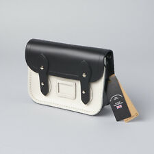The Cambridge Satchel Company Small Saddlebag Crossbody Black & White NWT