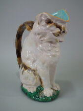Minton Majolica cat with mouse jug/pitcher