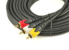 3 RCA Composite Video and Audio cable 15m