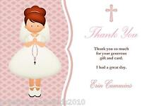 10 Personalised Communion Thank You Cards Girl 3