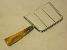 vintage cheese slicer kitchen tool gadget marble bakelite ? handle double prong