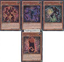 """Yu-Gi-Oh! """"Lot de 4 cartes Chronomal"""" NUMH-FR001/2/3/4 -VF/SUPER RARE/NEUVE-"""