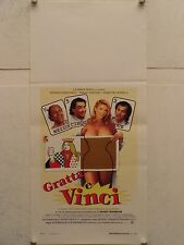 GRATTA E VINCI commedia regia Ferruccio Castronuovo locandina orig. 1996