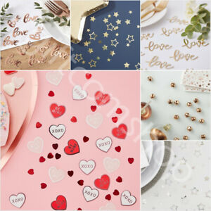 Valentines Day Table Decorations Love Heart Confetti Scatter Wedding Engagement