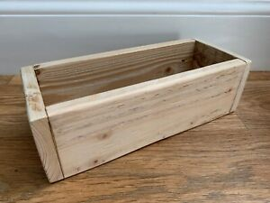 Handmade Rustic Wooden storage Box / plants holder made from reclaimed wood