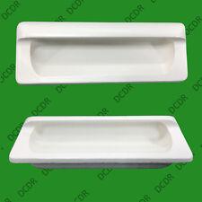 6X en bois blanc encastré anse 110mm Armoire Garde-Robe cuisine Bouton de porte