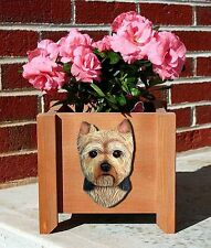 Yorkie Planter Flower Pot Puppy Cut