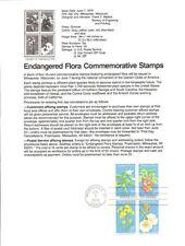 #7909 15c Endangered Flora B4 #1783-1786a USPS Souvenir Page