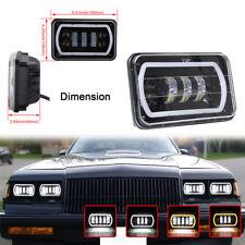 4x6''Square Led Headlight DRL Hi/Lo Beam for Jeep Cherokee XJ Trucks 4X4 Offroad
