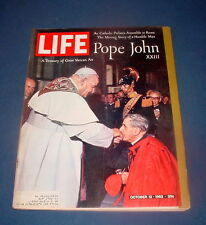 LIFE MAGAZINE OCTOBER 12 1962 POPE JOHN XXIII VATICAN JOAN CRAWFORD BETTE DAVIS