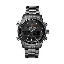 Naviforce 9024 LED Luxury Stainless Steel Date Analog Digital Men's Quartz Watch