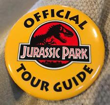 Jurassic Park Tour Guide Button
