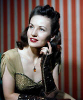 OLD PHOTO CBS RADIO TV Color Portrait Of Virginia Simms Radio Singer