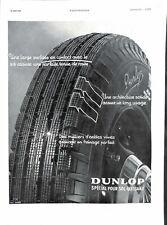 Publicité Pneus Dunlop Poste radio tourne disques Thorens rue Bleue Paris 1937