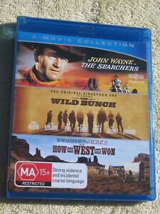 THE SEARCHERS / THE WILD BUNCH / HOW THE WEST WAS WON - 3 MOVIE - BLU-RAY