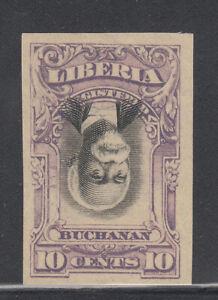 Liberia # F10 PROOF INVERTED CENTER in VIOLET 1903 Registration Set