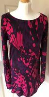 M&S Woman size 10/12 Geometric Print Soft Fit Jumper Dress