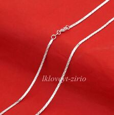 """STERLING SILVER NECKLACE .925 Flat Anchor Chain 20""""L Lobster Clasp Women's USA"""