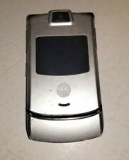Motorola Razr V3M V3 Verizon 3G Cell Phone Razor Silve 00002000 r razer flip camera vcast