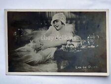 Lya De Putti attrice actor cinema muto SILENT MOVIE old postcard AK