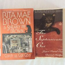 Lot 2 Cat Story Novel Books The Sophisticated Cat Catch As Cat Can