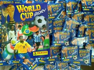 PANINI WORLD CUP STORY x  50 / 100 or 150 Envelopes (Free Album)