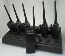 6 x Motorola GP340 VHF Betriebsfunkgerät 6er Original Schnelllader VHF