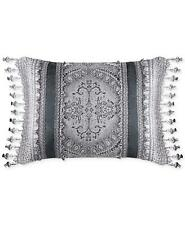 "J Queen New York Colette 20"" x 15"" Decorative Pillow Silver"