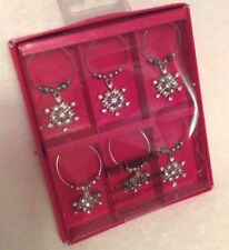 Pier 1 Imports Holiday Drink Charms - Snowflakes - Set of Six