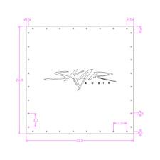 "Skar Audio 24"" X 24"" Plexiglass Viewing Window (3/4"") For Sub Box W/ 3D Logo"