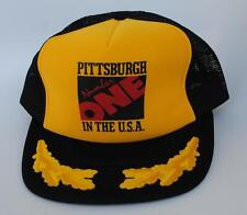 PITTSBURGH Number ONE IN THE USA Medium-Large Snapback Trucker Baseball Cap Hat