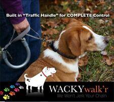 WACKY WALK'R~NO PULL~ LEASH EXTENSION NEON ORANGE ~ L ~ 25~50lb DOG NEW