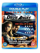 DRIVE ANGRY DOUBLE PLAY BLU-RAY DVD Nicolas Cage Amber Heard UK New Sealed R2