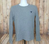 American Eagle Outfitters Men's Grey Long Sleeve Thermal Shirt Size Small S/P