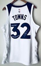 """Karl-Anthony Towns Signed """"2016 ROY"""" Timberwolves Nike Swingman Jersey (KAT COA)"""