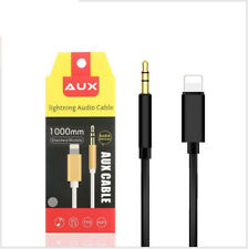 1m Lightning to Male Jack Car AUX Audio Adapter Cable For iPhone 11 Pro XS XR